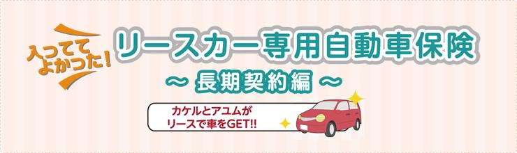 リースカー専用自動車保険 長期契約編